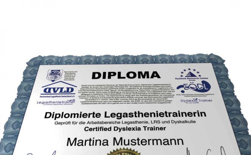 Ausbildung in der Bildungskarenz zum Diplomierten Legasthenietrainer, Dyskalkulietrainer & Lerndidaktiker